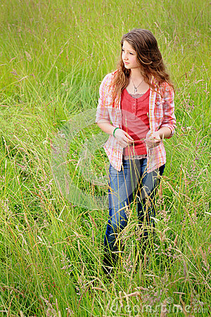 Cute country teen gazing stock photo image 47567478 for Cute teenager girls