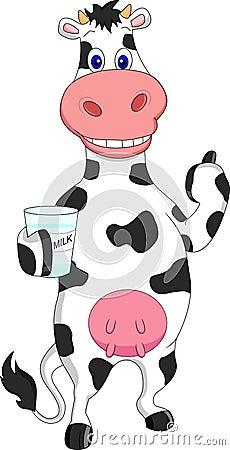 Cow Milk Animation Funny Cow Cartoon Milk