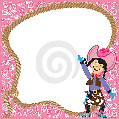 Free Cute Cowgirl Birthday Party Invitation Stock Photography - 17474872