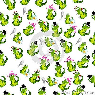 Cute crocodile or alligator Vector Illustration