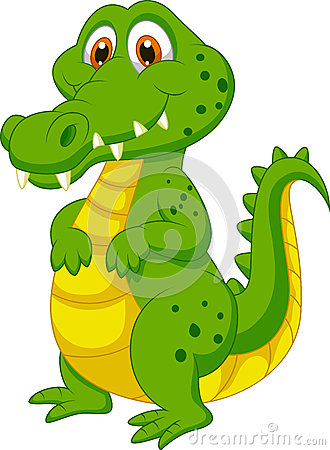 Free Cute Crocodile Cartoon Royalty Free Stock Images - 33243549