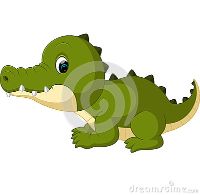 Cute crocodile cartoon Vector Illustration
