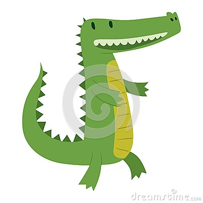 Cute crocodile character vector Vector Illustration
