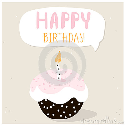 Happy Birthday Greeting Card Template Vector Image 51551192 – Birthday Cake Card Template