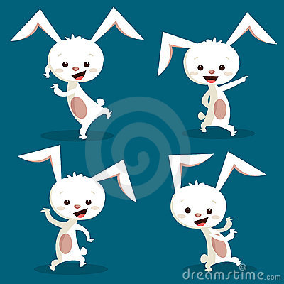 Cute dancing bunny