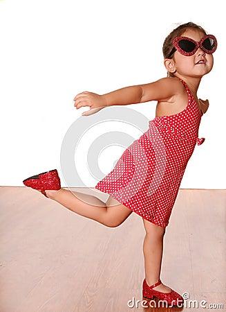 Free Cute Dancing Girl Stock Photos - 3365443