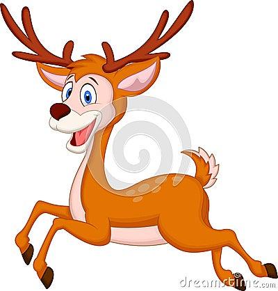 Free Cute Deer Cartoon Running Royalty Free Stock Photo - 39167325