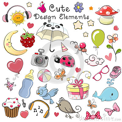 Cute design elements Vector Illustration