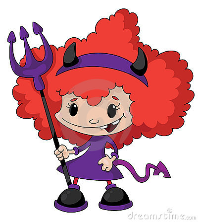 Cute Girl Devil Stock Vector - Image: 67648125