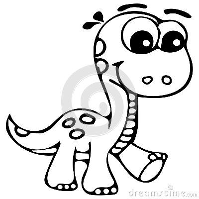 Cute Dinosaur Coloring Pages Stock Illustration Image Of Baby