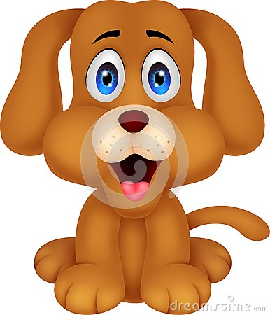 Free Cute Dog Cartoon Stock Images - 33358054