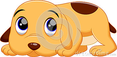 Cute dog cartoon Stock Photo