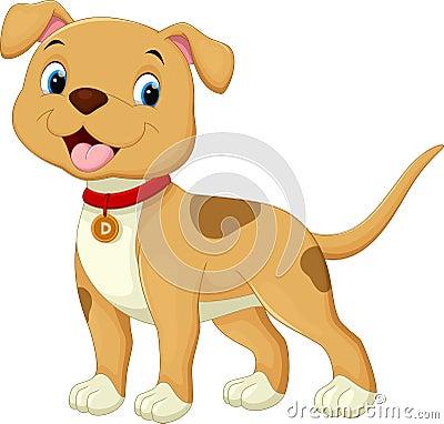 Cute dog cartoon Cartoon Illustration