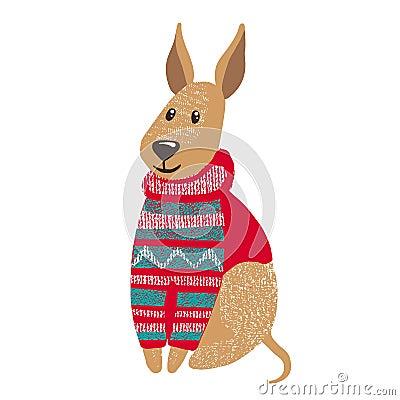 Free Cute Dog In Warm Winter Sweater. Stock Photo - 103317630