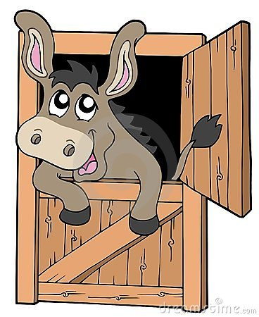 Free Cute Donkey In Stable Stock Image - 12135961