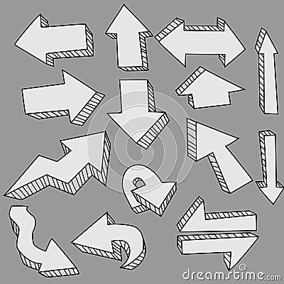 Cute doodle arrows