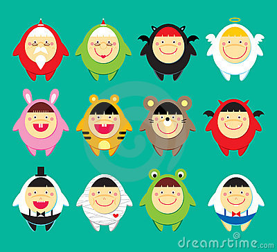 Free Cute Doodle Icons Stock Photo - 12261410