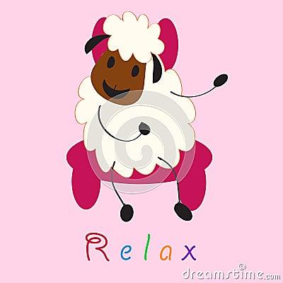 Cute doodle sheep