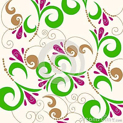 Cute doodle spring background illustration