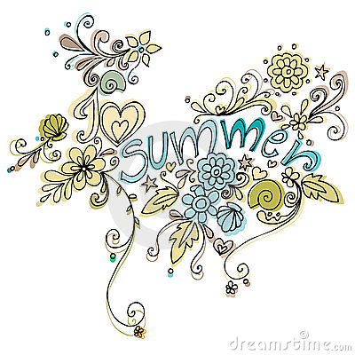Cute doodle summer background