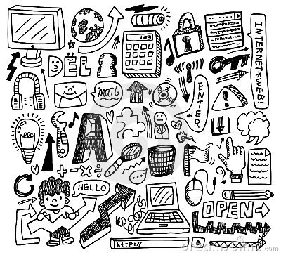Free Cute Doodle Web Royalty Free Stock Image - 17261526