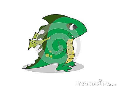 Cute dragon baby
