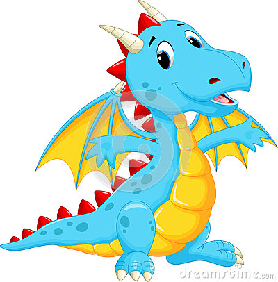 Free Cute Dragon Cartoon Royalty Free Stock Images - 62610999