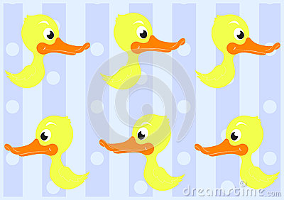 Cute Ducks Seamless Pattern