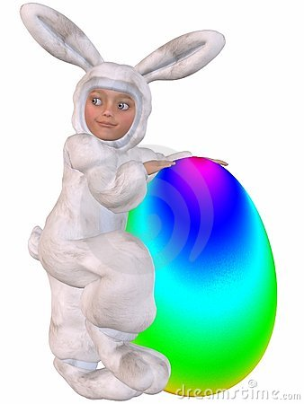 Cute Easter Bunny With Egg Stock Images - Image: 7790774