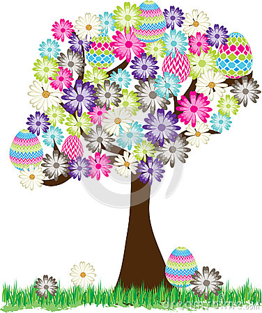 Cute Easter Egg Daisy Tree