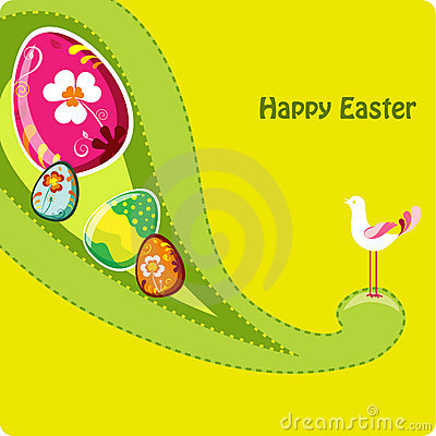 Cute easter greeting card.