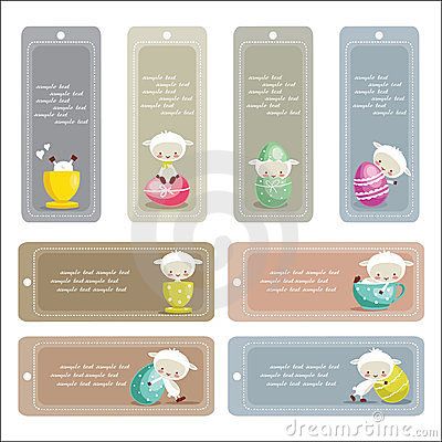 Cute easter labels