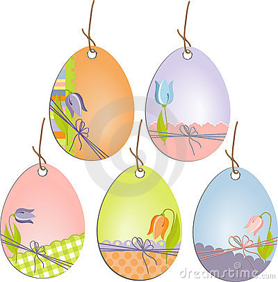 Cute easter scrapbooking tags