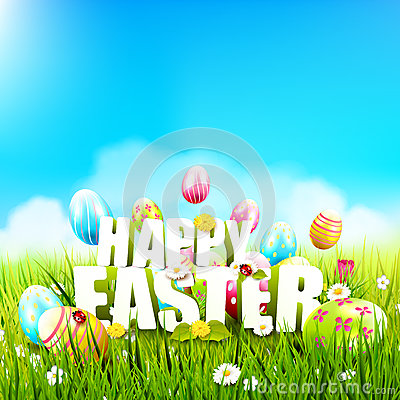 Free Cute Easter Template Royalty Free Stock Photo - 89168965