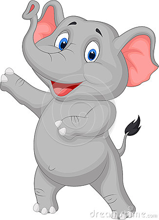 Free Cute Elephant Cartoon Presenting Royalty Free Stock Photo - 34612825