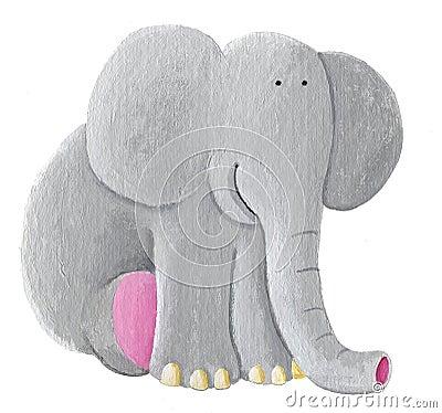 Free Cute Elephant Sitting Stock Photography - 12623222