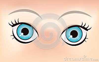 Cute eyes illustration