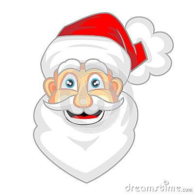 how to draw cute santa face