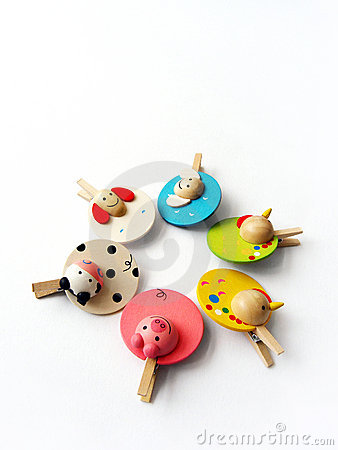 Cute farm animal pegs