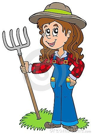 Free Cute Farm Girl Royalty Free Stock Images - 15614769