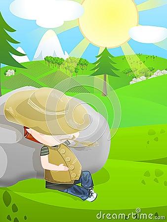 Cute farmer