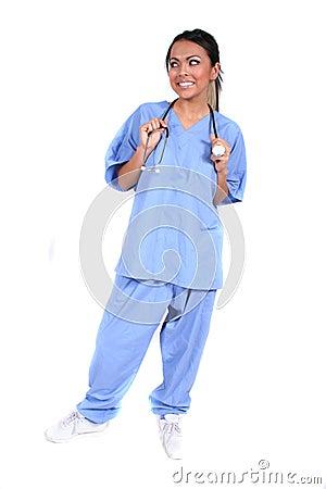 Cute Female Nurse, Doctor, Medical Worker