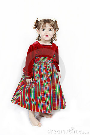 Cute female toddler with dress