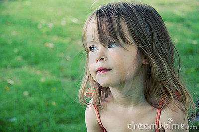 Cute female toddler outdoors
