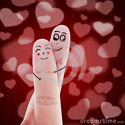 Cute finger sign of love
