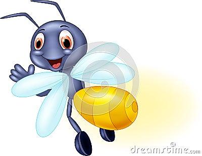 cute firefly cartoon waving stock vector image 60504267 fireflie clipart firefly clip art to print