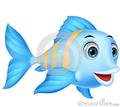 Free Cute Fish Cartoon Royalty Free Stock Photos - 33231648