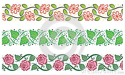 Cute floral borders