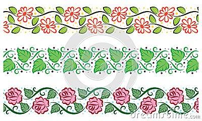 Cute floral borders