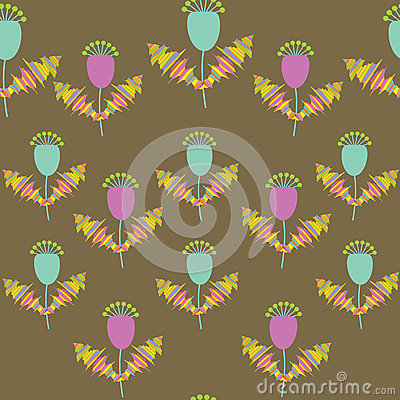 Cute  floral seamless pattern, and seamless patter